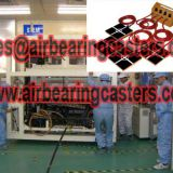 Air casters moving heavy duty loads easily and safety.