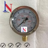 63mm Polished Stainless Steel Case Bottom Connection Pressure Gauge