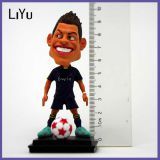 Customize Funny Football Player Souvenir for Resin Bobble Head
