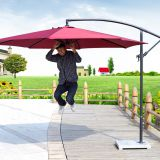 UV Resistance Sunshade Outdoor Furniture Patio Umbrella Chinese Garden Parasol Sun Umbrella