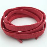 Hot Flat Waxed Shoelaces Wide Colorful Shoe Laces Waterproof Leather Shoes For Unisex Strings Cord Boots