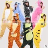 2015 walson top quality plus size adult onesie animal costume onesie pajamas
