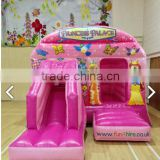 Kids inflatable pink bouncer house jump bouncer playhouse bouncy castle slide                                                                         Quality Choice