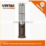 Low MOQ glass tube flame patio heater , outdoor patio heater , gas patio heater