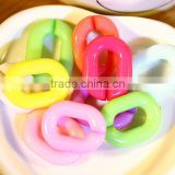 DIY accessories 23 * 17 mm acrylic opening lap composable chain color fluorescent color plastic