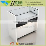 wholesale wood glass store mobile phone display counter showcase for cell phone retail store