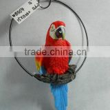Resin hanging decoration of parrot figurine                                                                                                         Supplier's Choice