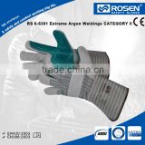RS SAFETY softtextile working glove with high impact Industrial leather hand gloves
