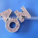 Made in China Crystal Metal Jewelry 10mm rhinestone slide bracelet letters