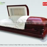 english casket CardPEACE wood veneer cardboard wood of china coffins