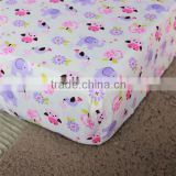 100% cotton baby cot fitted sheet