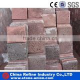 red lava lock tile natural stone