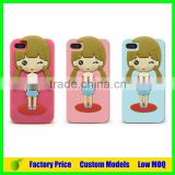 Cut girl Silicone 3d phone case for Zte Z5 mini cell phone case back cover