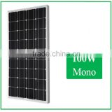 High efficiency and good Quality 100W Mono pv solar panel for home use, for solar system