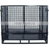 High quality customized heavy load folding stackable metal wire container