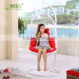 Outdoor Poly Rattan Wicker Swingasan Hanging Chair with Stand