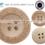 18mm big round bow wooden button with 2 hole
