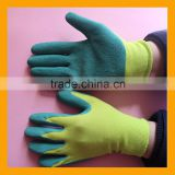 13G Polyester Liner Coated Green Latex Gloves Labor Protection Latex Building Gloves                                                                         Quality Choice