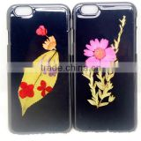3d flowers grass leaves customized DIY design cell phone hard case for iphone 5s, iphone 6