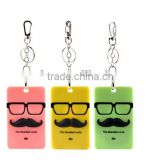 fashion promotional gift big beard silicone card holder
