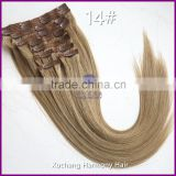 Large Stock clip in hair extension 100% human hair clip ins 80g-220g clip in hair extensions many colors straight and wavy                                                                         Quality Choice