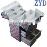 professional aluminum frame best beauty box makeup vanity case with drawers ZYD