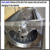 1000kg/h capacity 304 stainless steel professional cassava processing machinery/cassava skin peeling machine