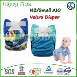 Happy Flute Newborn AIO Diaper Charcoal Bamboo Inner wholesale