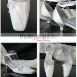 white simple bow WS-053 popular style new designer tope fashion bridal shos