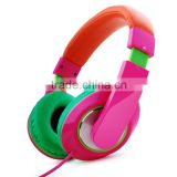 Good quality bulk items best colorful headphone fashion accessories super bass stereo headphone fashion headset in green pink