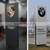 Large outdoor double side car logo backlit sign board