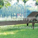 Rattan outdoor bed Aluminum frame with PE rattan weaving