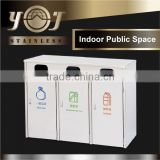Wholesale Furniture Stainless Steel Metal Recycle Trash Can