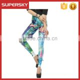 V-867 fitness leggings wholesale digital custom printed women yoga leggings sublimated women pant