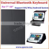 7-10 inch tablet pc Universal bluetooth keyboard with leather case for Android Win IOS system bluetooth 3.0