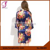 FUNG 3002 New Floral Silk Short Robes
