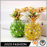 Beautiful Pineapple Glass Keychain for Girl Friend Gifts, Crystal Key Holders