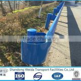 Blue painted Metal Highway Guard rail Fence