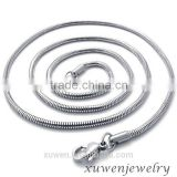 2mm 18inch 316l stainless steel snake chains with lobster claw clasps