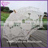 Promotional Lace Bridal Parasol and Lace Fan Wedding Decoration Bridal Accessory Wedding Bridal Umbrella