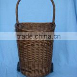 laundry trolley with willow basket