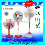 "brushless 12v dc fan specification / battery rechargeable table electrical fan / 16"" stand rechargeable fans"