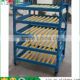 With Wheels Movable Fluent Carton Fluent Type Shelf Warehouse Rack