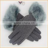 Five Fingers Separated With Low Price Smort Touchscreen Micro-velvet Fur Lined Hand Gloves whlesale