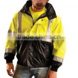 Class 3 in 1 Black Bottom Bomber Jacket Yellow Black Hi Vis Workwear