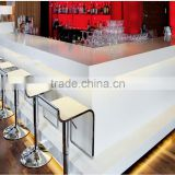 Man made stone modern style acrylic solid surface stone reception desk,Solid Surface Bar Counter
