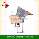 Modern Aluminum Alloy Frame School Desk and Chair / University Classroom Student Desk and Chair(WL015)