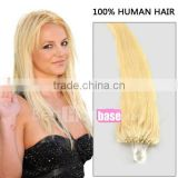 22 Inch in 613# Same As SO .CAP Quality Loop Micro ring Human Remy Hair Extensions