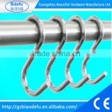 High quality stainless steel bulk S hook with different size / S shape hook for hanging / metal S hooks for hanging