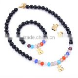 European popular perfect design teddy bear colorful beads handmade jewelry set for women